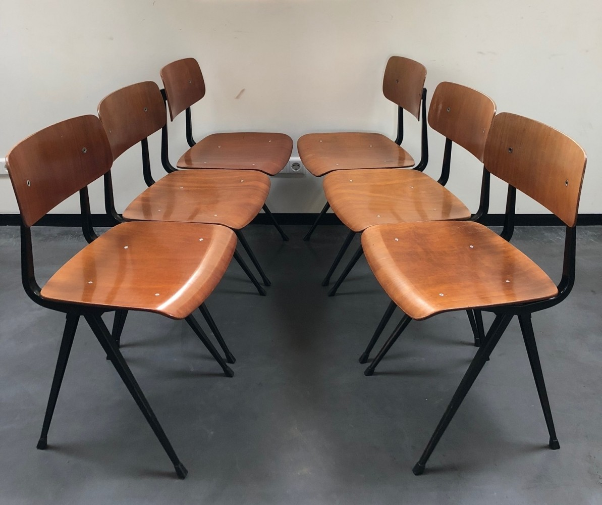 Set of 6 1st edition Result dining chairs by Friso Kramer for Ahrend de Cirkel, 1960s