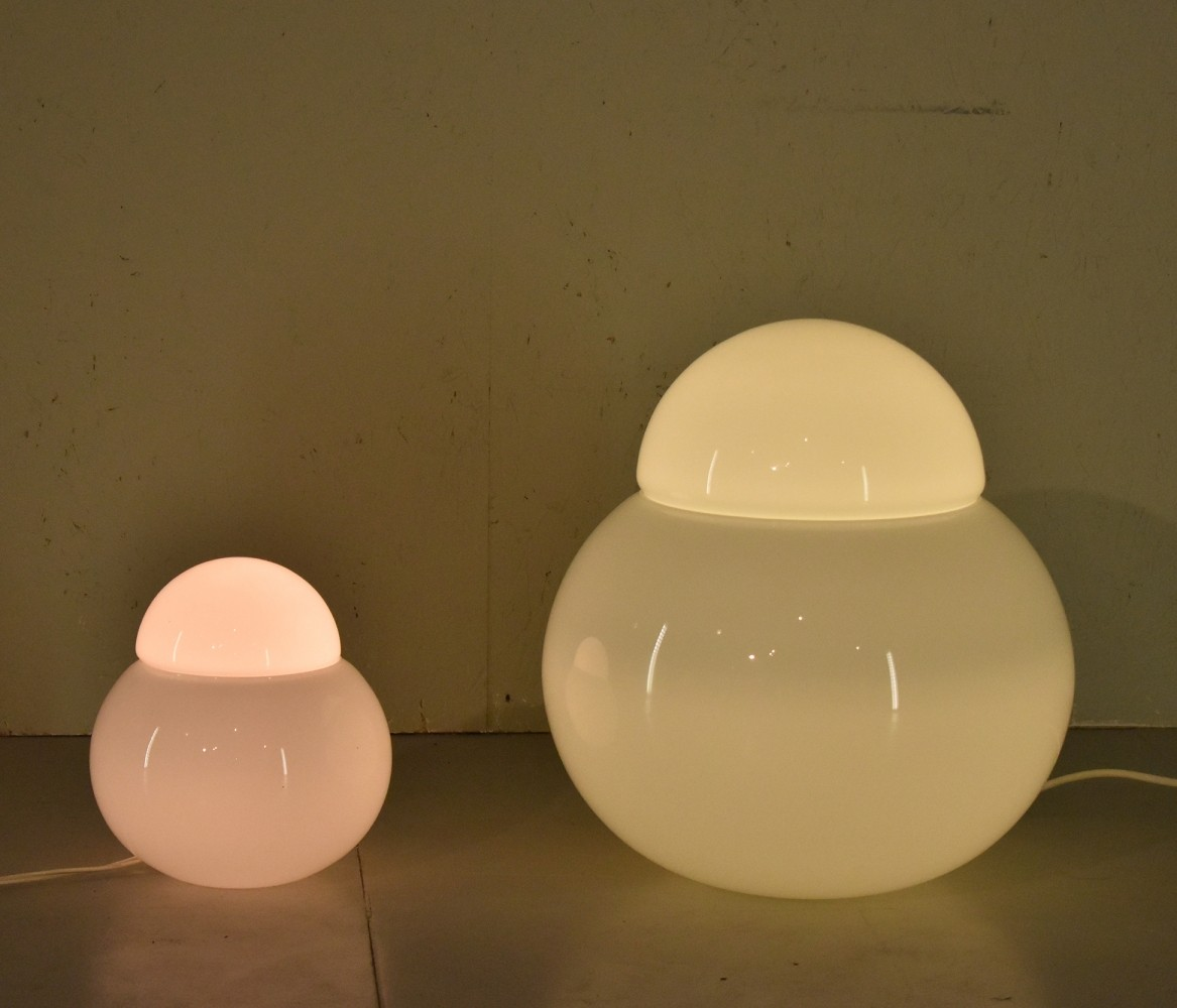 Pair of desk lamps by Sergio Asti for Fontana Arte, 1960s