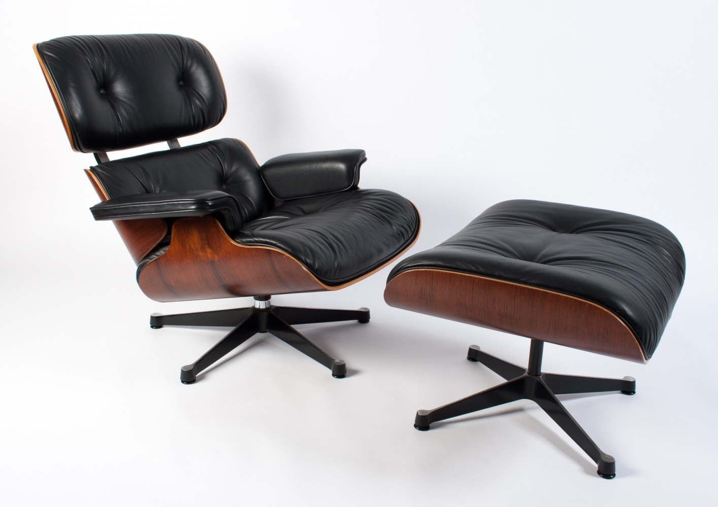 Eames Lounge Chair + Ottoman by Vitra, 1983