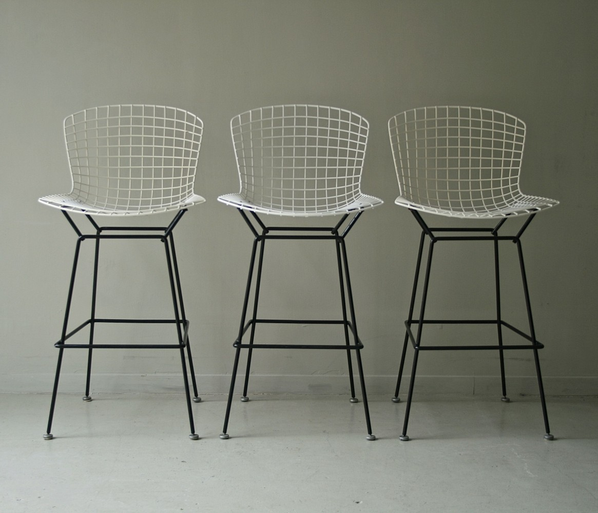 3 x Harry Bertoia stool, 1970s
