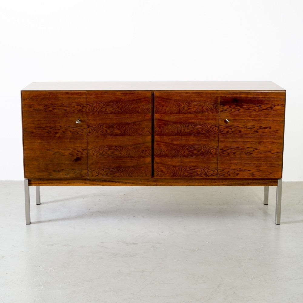 Capacious rosewood sideboard by Adolf Suter for Swiss Form, 1960s