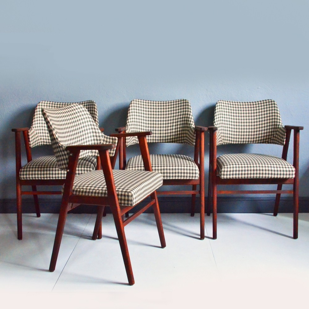 Set of 4 vintage arm chairs, 1960s