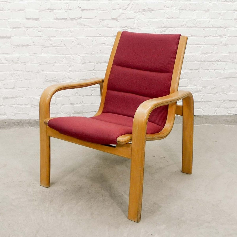 Mid-Century Scandinavian Arm Chair by Yngve Ekstrom for Swedese, 1960s