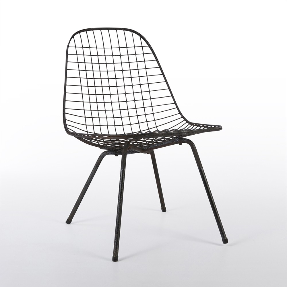 Original Herman Miller Black Eames DKX Wire Side Chair
