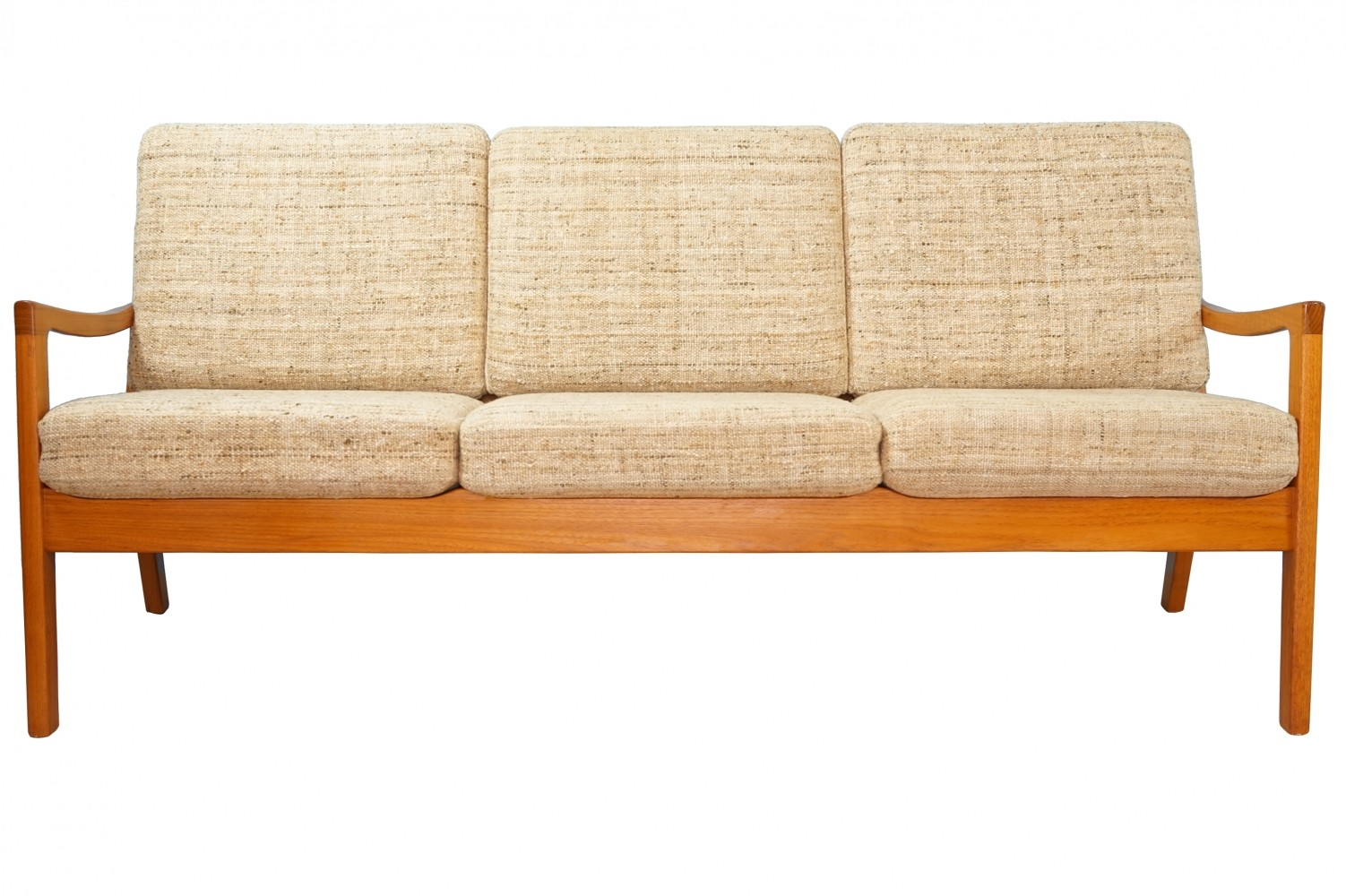 Three-seat teak sofa by Ole Wanscher for Poul Jeppesen