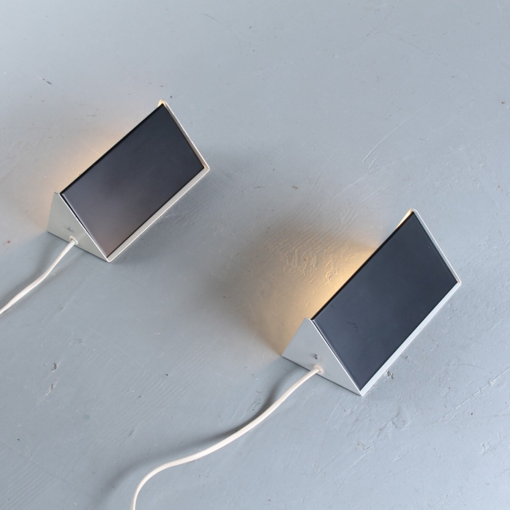 Pair of Model 7013 wall lights by J. Hoogervorst for Anvia Almelo, 1950s