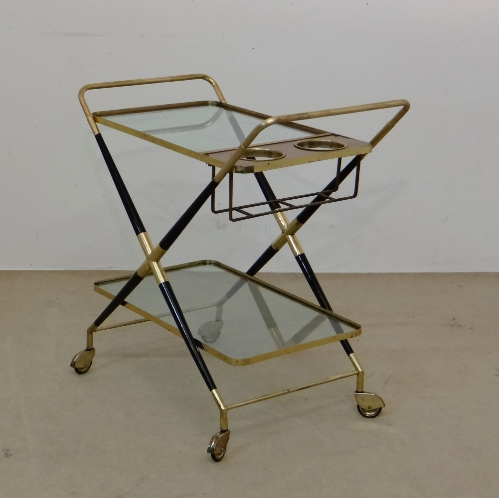 Bar trolley / serving trolley by Cesare Lacca, 1950s