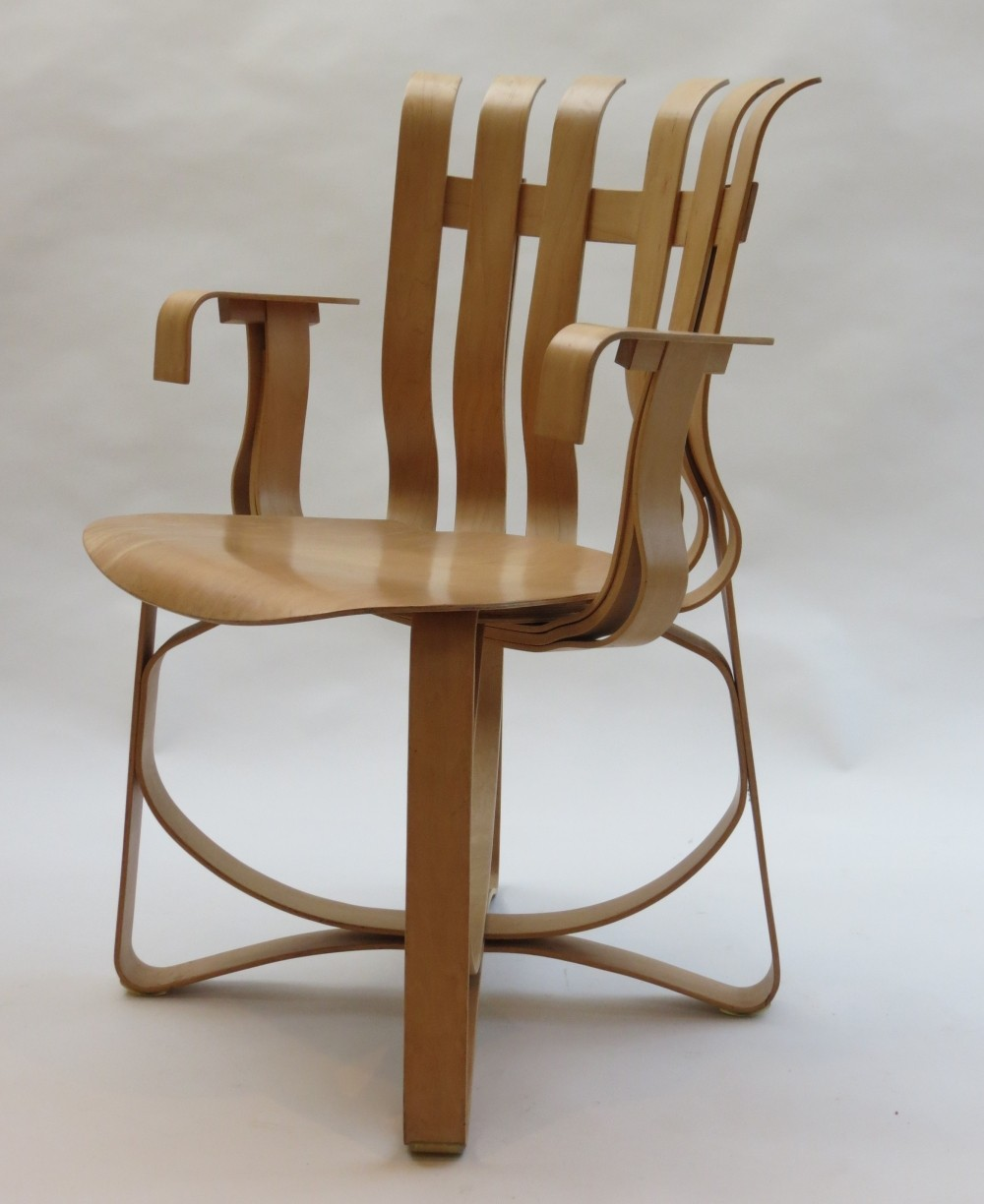 Hat Trick dining chair by Frank Gehry for Knoll, 1990s
