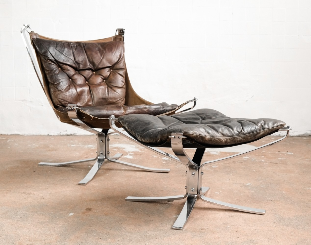 Falcon Chair & Ottoman by Sigurd Ressell for Vatne Møbler