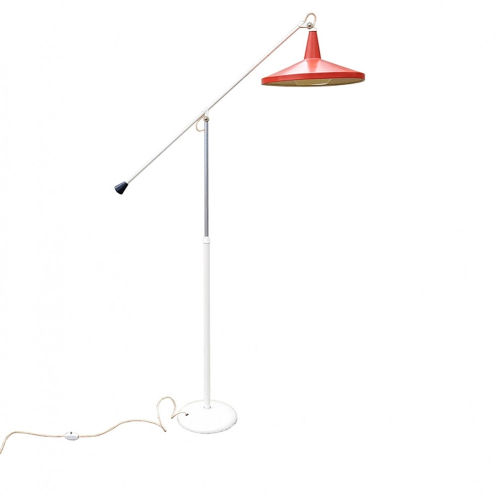 Dutch Design Panama Floor Lamp by Wim Rietveld for Gispen 1950