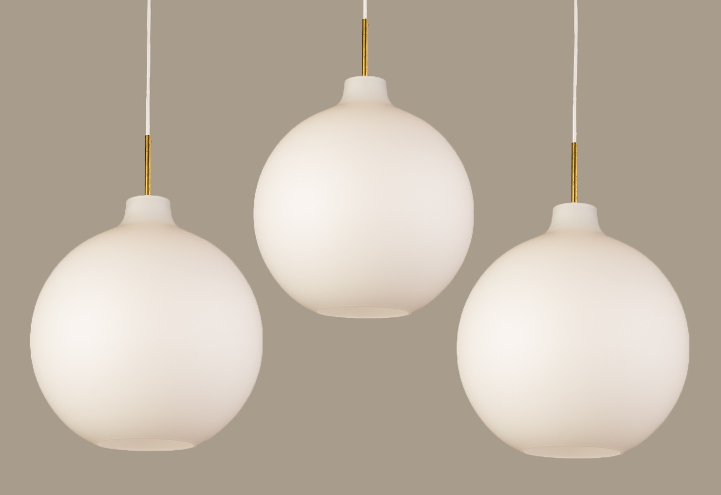 Set of 3 Satellite hanging lamps by Vilhelm Wohlert for Louis Poulsen, 1960s