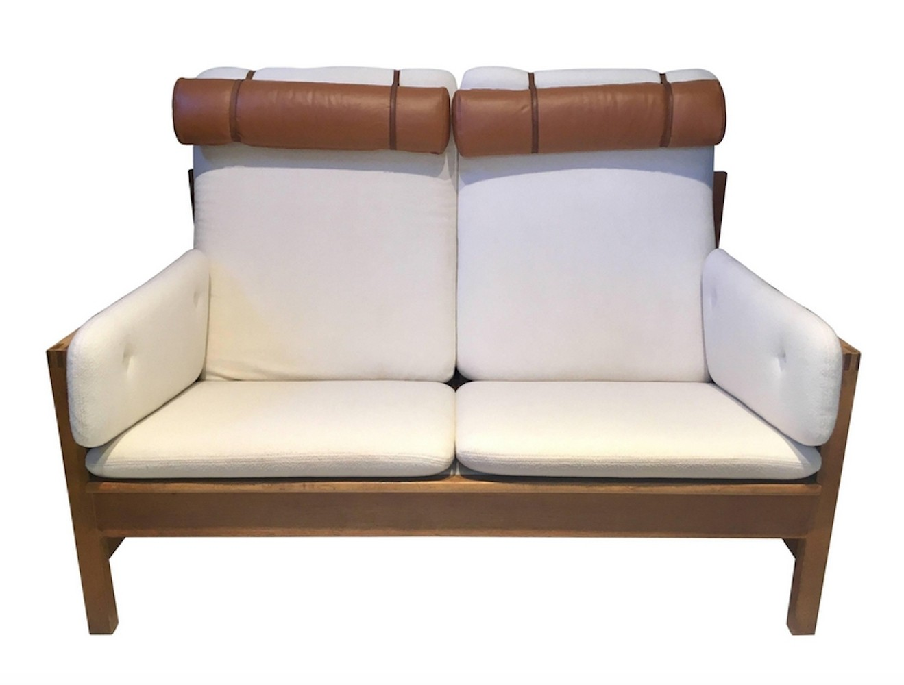 Borge Mogensen Two-Seat Oak Sofa, Model 2252