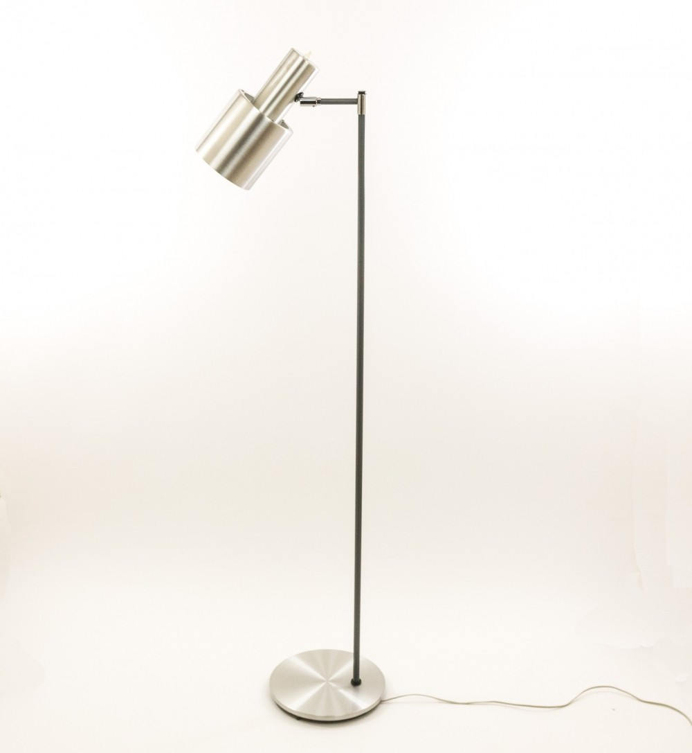 Studio floor lamp in aluminium by Jo Hammerborg for Fog & Mørup, 1960s