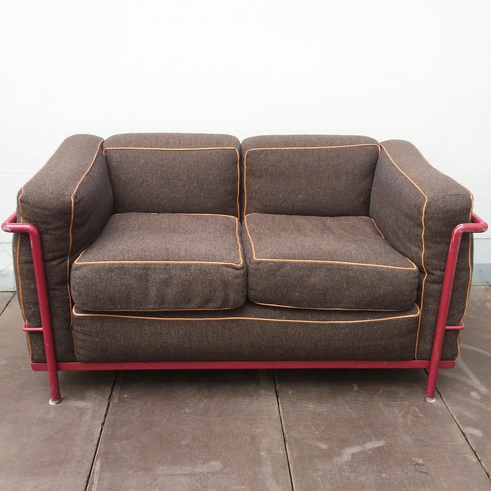 LC 2 sofa by Le Corbusier & Charlotte Perriand for Cassina, 1960s