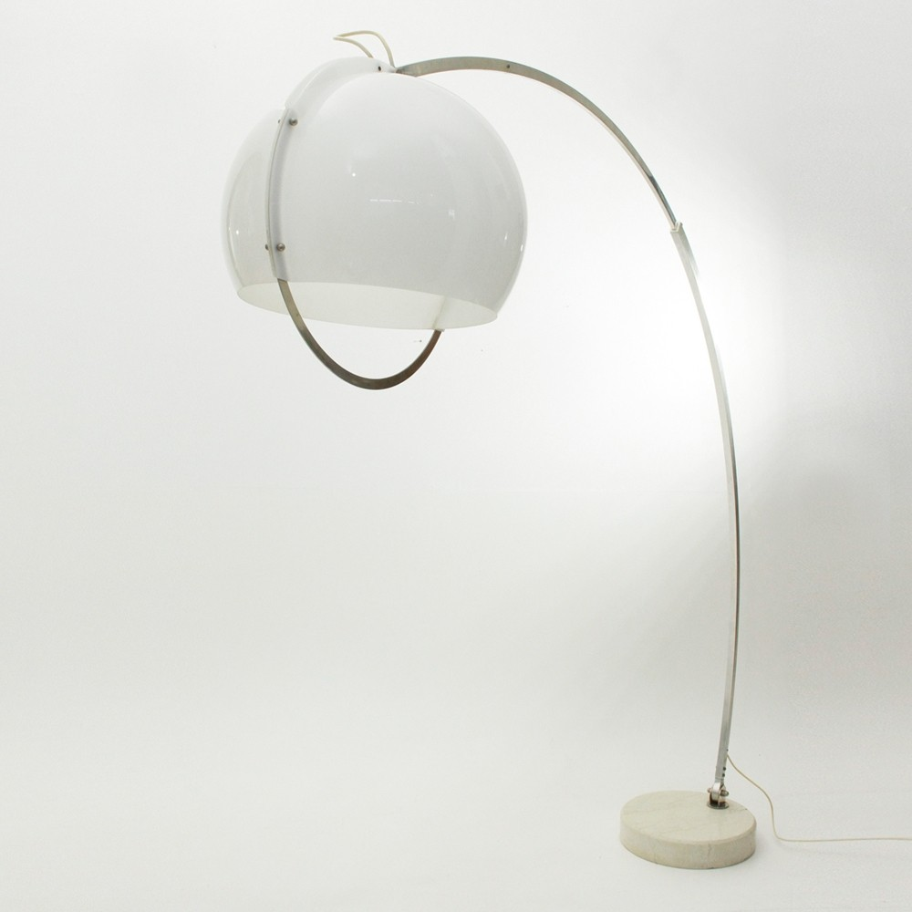 Arc Floor Lamp With Perspex Shade 1960s 80172