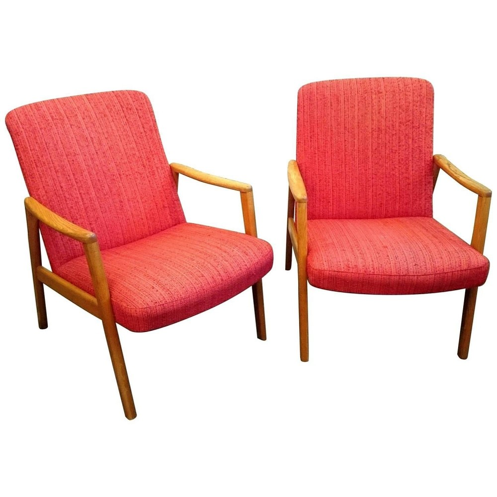 Pair of Swedish armchairs by DUX, 1960s
