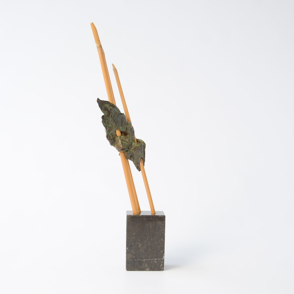 Abstract Bamboo & Brass Sculpture