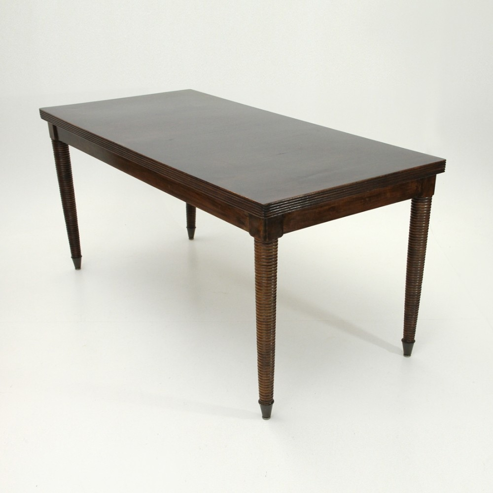 Modernist Italian Wooden Table, 1940s