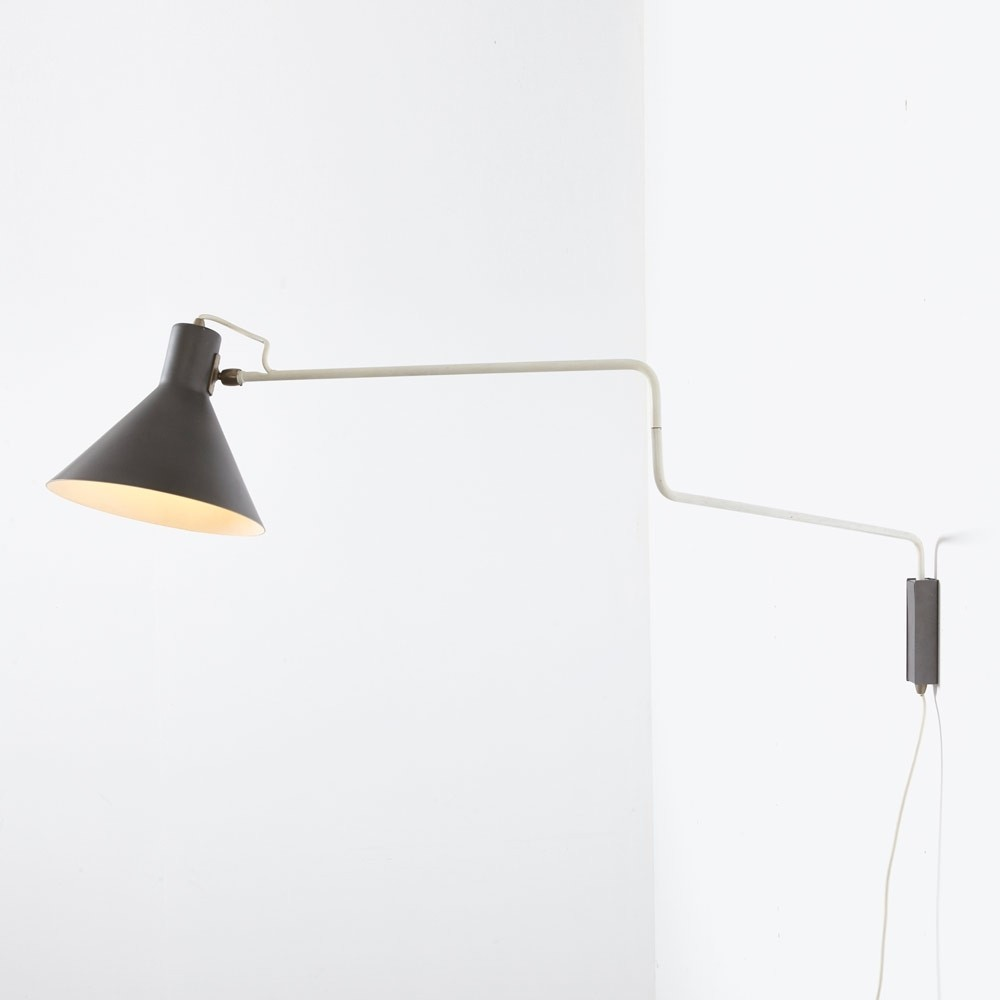 J. Hoogervorst 7058 Wall Lamp by Anvia, 1950s
