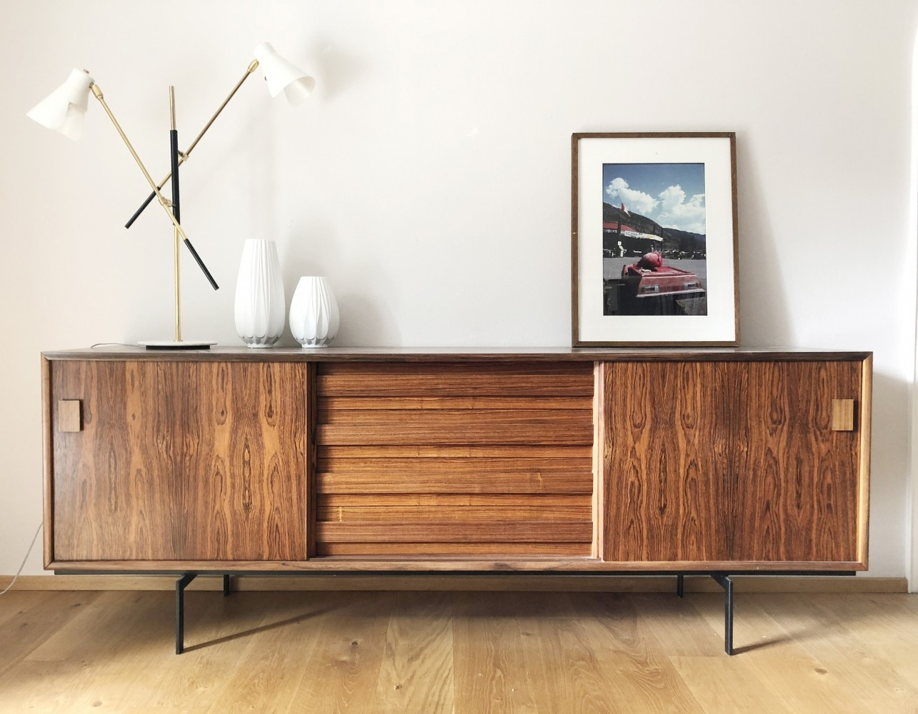 Danish Rosewood Sideboard by Poul Jessen for DR Visby J