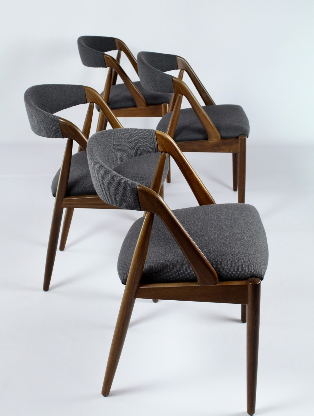 Set of 4 dinner chairs by Kai Kristiansen for Andersen Schou
