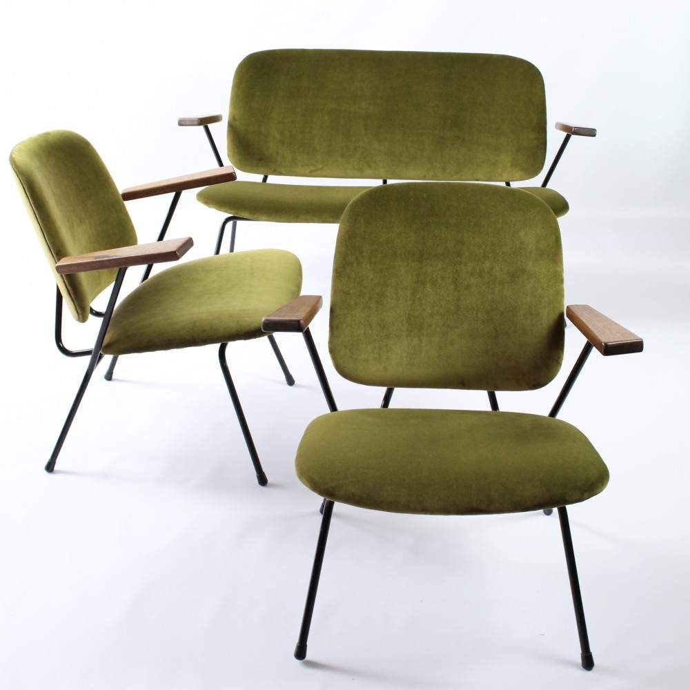 Set of armchairs & sofa by WH Gispen for Kembo