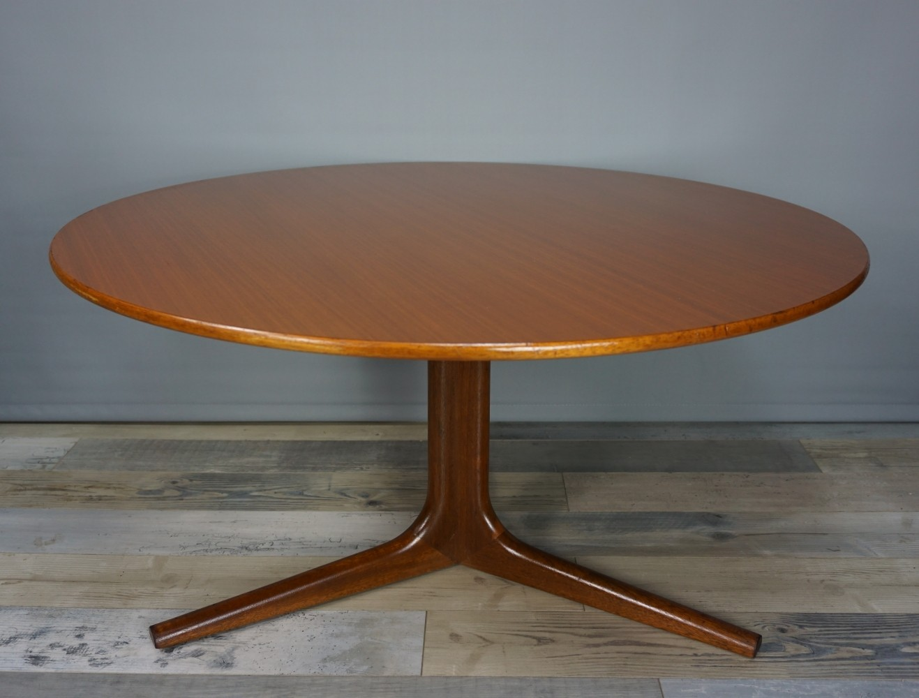 60s Teak coffee table with tripod star feet