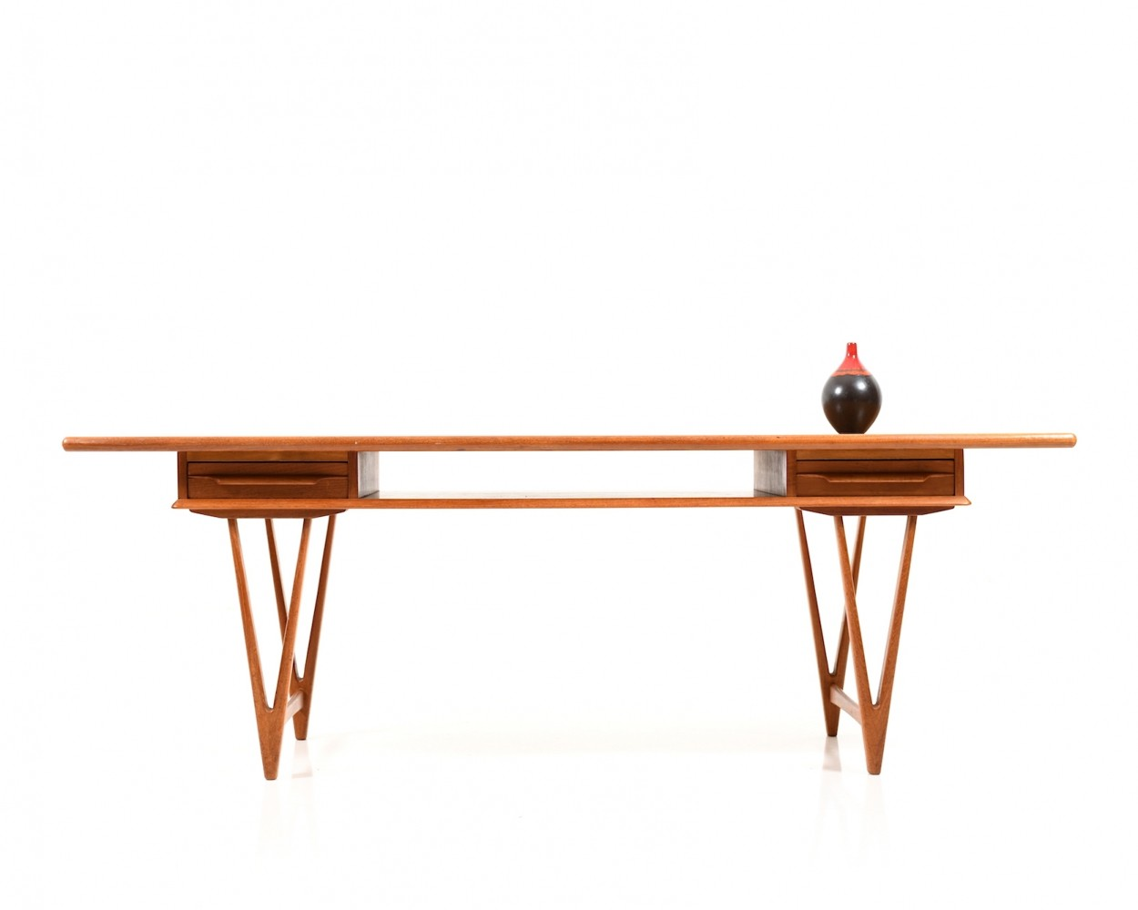 Mid century danish teak Sofa Table by E. W. Bach for Toften Møbelfabrik