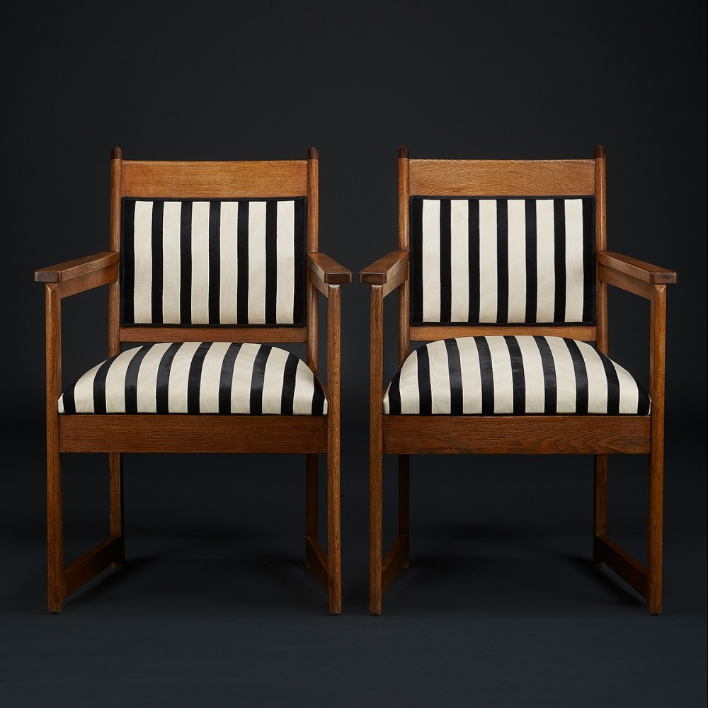 Art Deco arm chairs (Amsterdam school), 1920s
