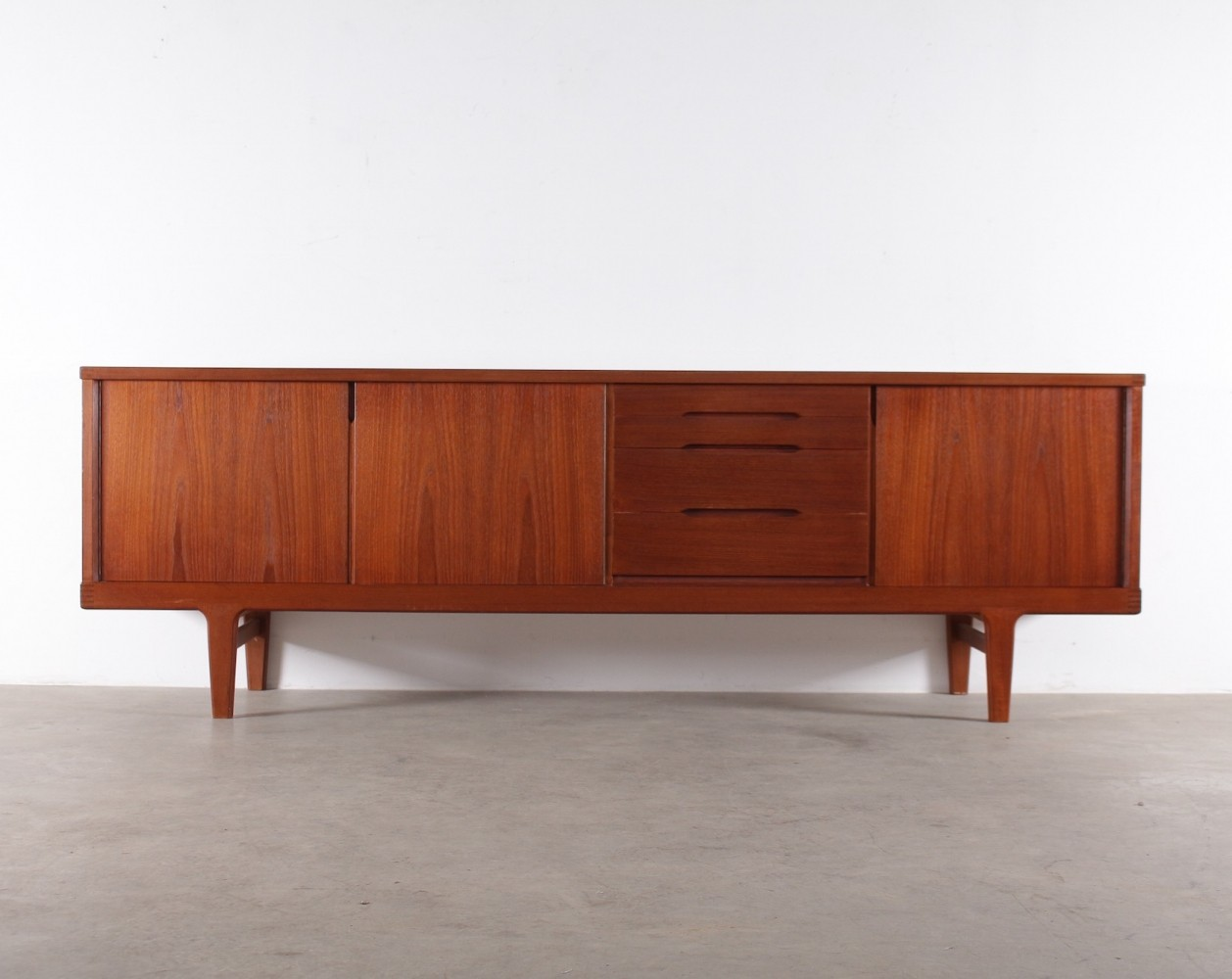 Danish teak sideboard by H. Kjearnulf