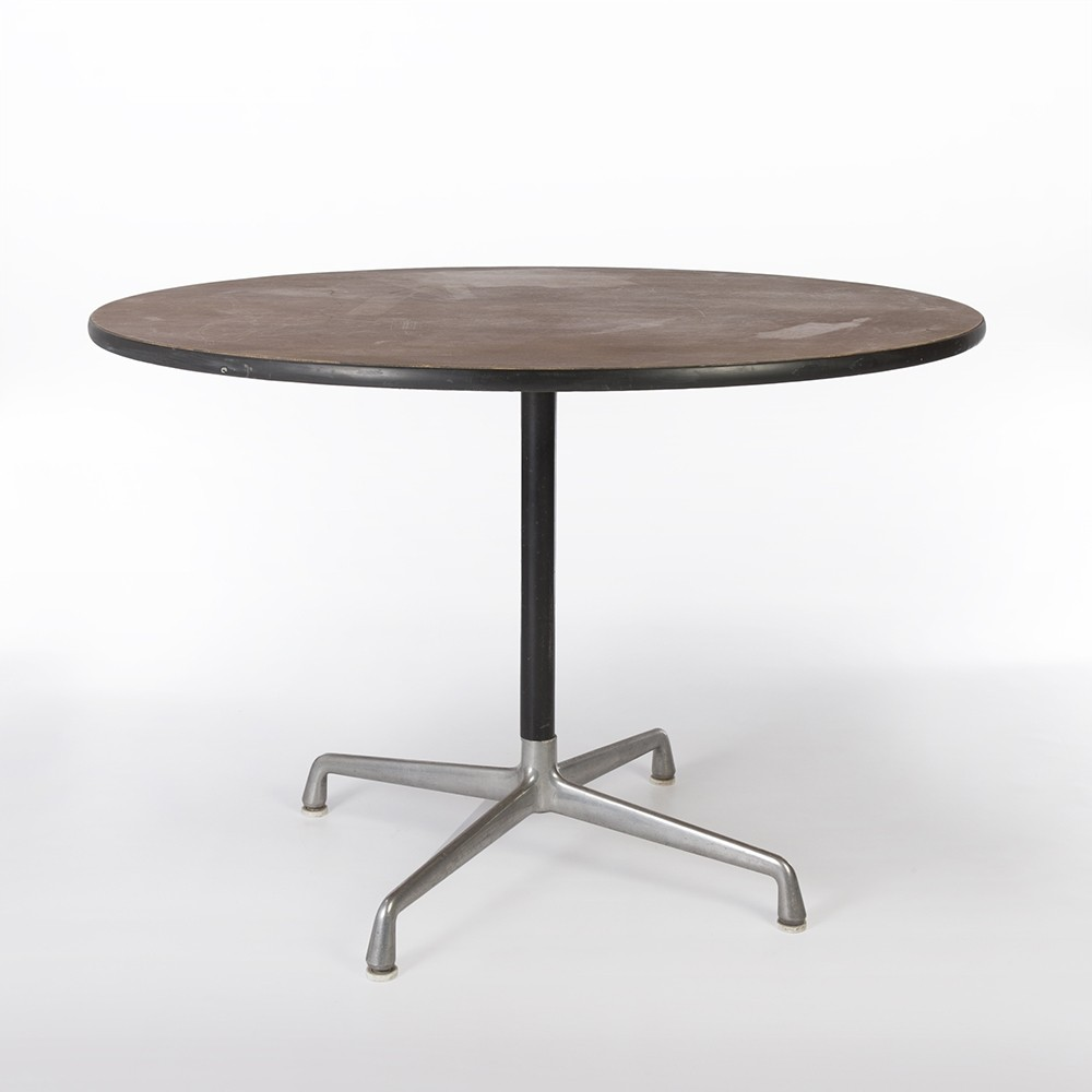 Original Herman Miller Walnut Eames Round Contract Dining Table