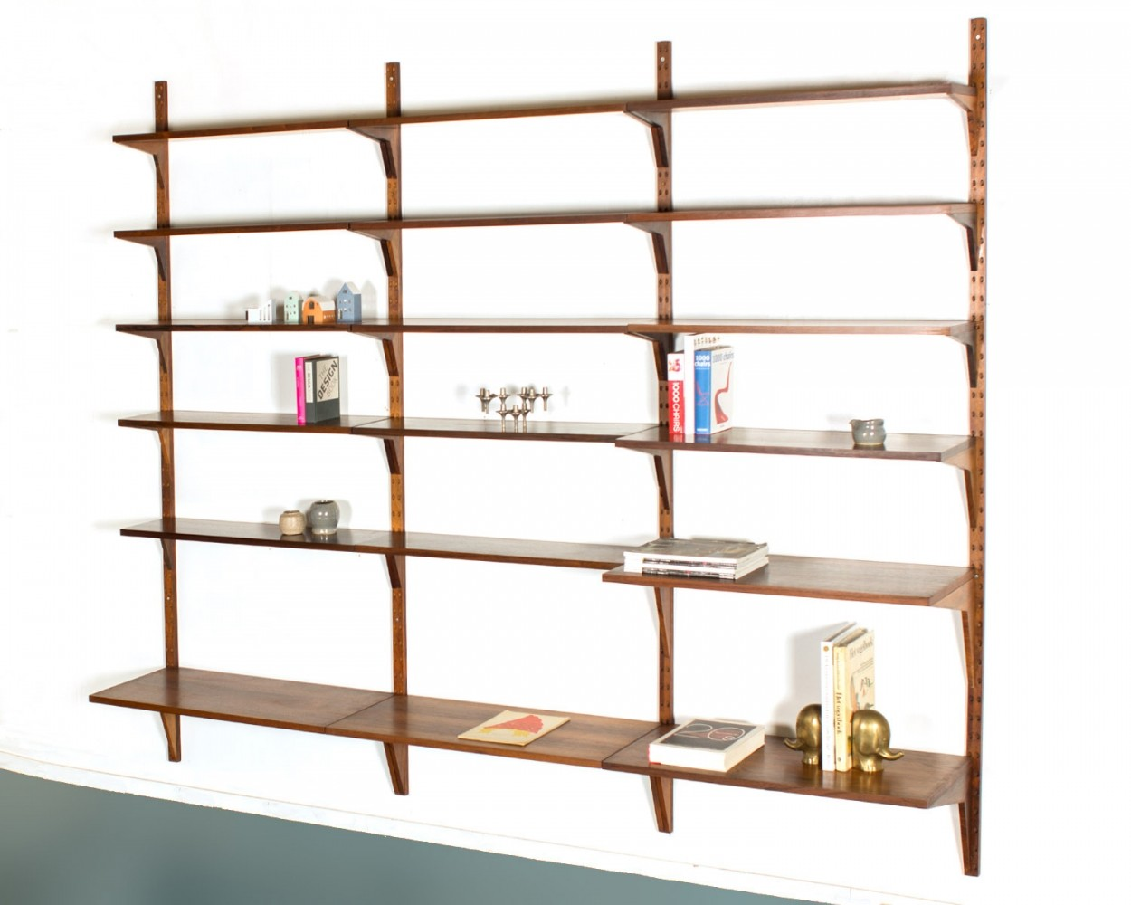 Vintage Poul Cadovius rosewood wall unit