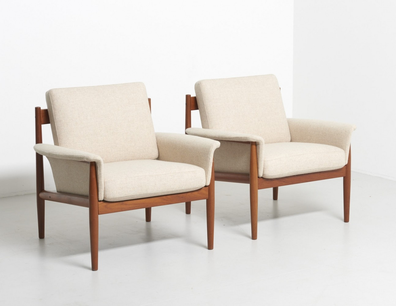 Pair of Armchairs by Grete Jalk for France & Søn, 1960s