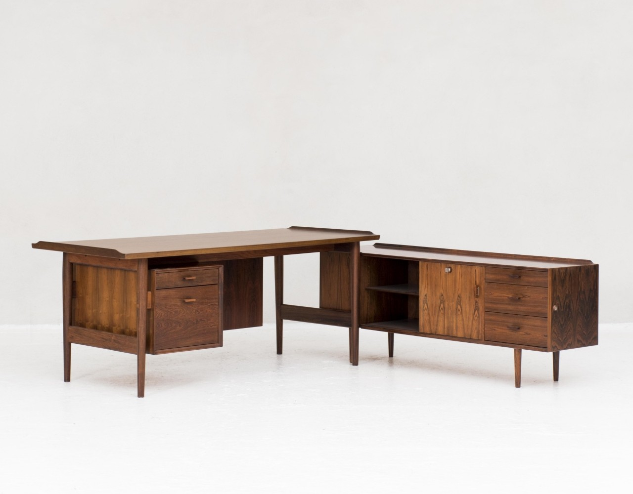 Writing desk with matching side cabinet by Arne Vodder, Denmark 1960