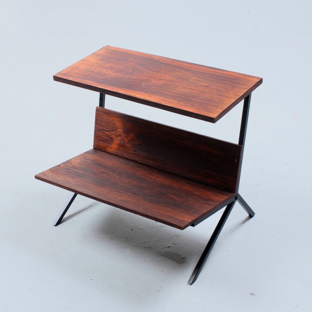 Rosewood magazine table by Stiemsma, 1950s