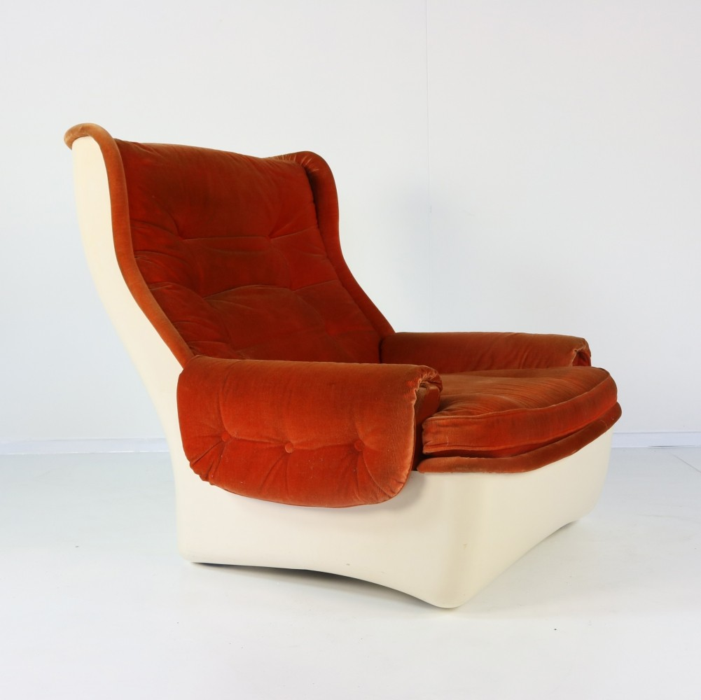 Rare Orchidée lounge chair by Michel Cadestin for Airborne, 1968