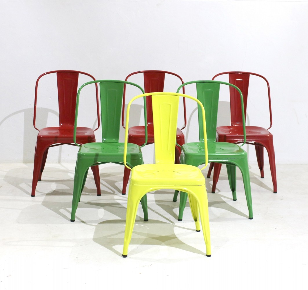 Vintage Chairs by Xavier Pauchard for Tolix, Set of 6