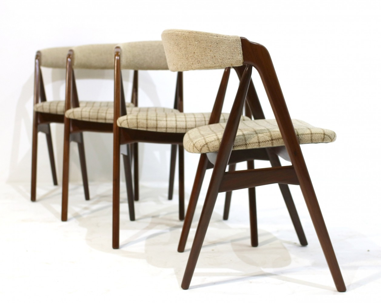 Set of 4 Mid-Century Danish Teak Chairs by Th. Harlev for Farstrup Møbler, 1950s