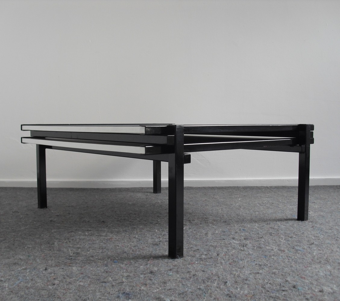 Postmodern Cubist Extendable Coffee Table S - Post modern coffee table