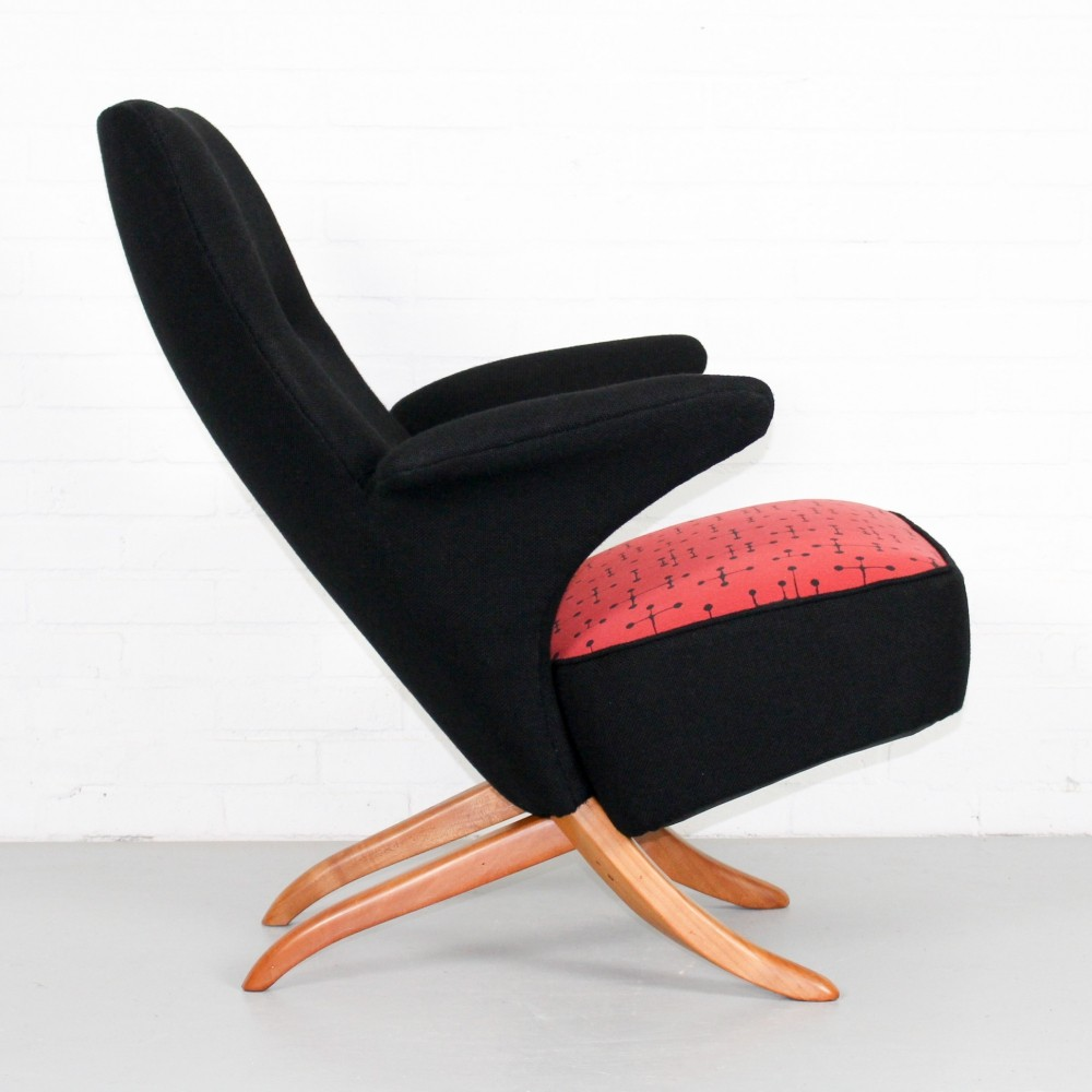 Vintage Mid Century Dutch Artifort Penguin chair by Theo Ruth, 1950s