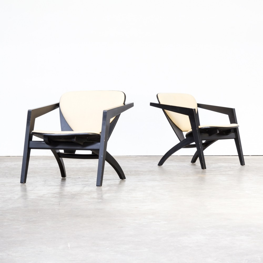 Pair of Hans Wegner GE-460 chairs for Getama, 1970s
