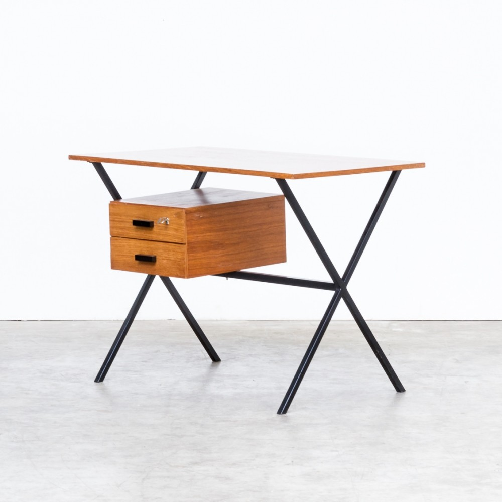 60s Teak & metal writing desk