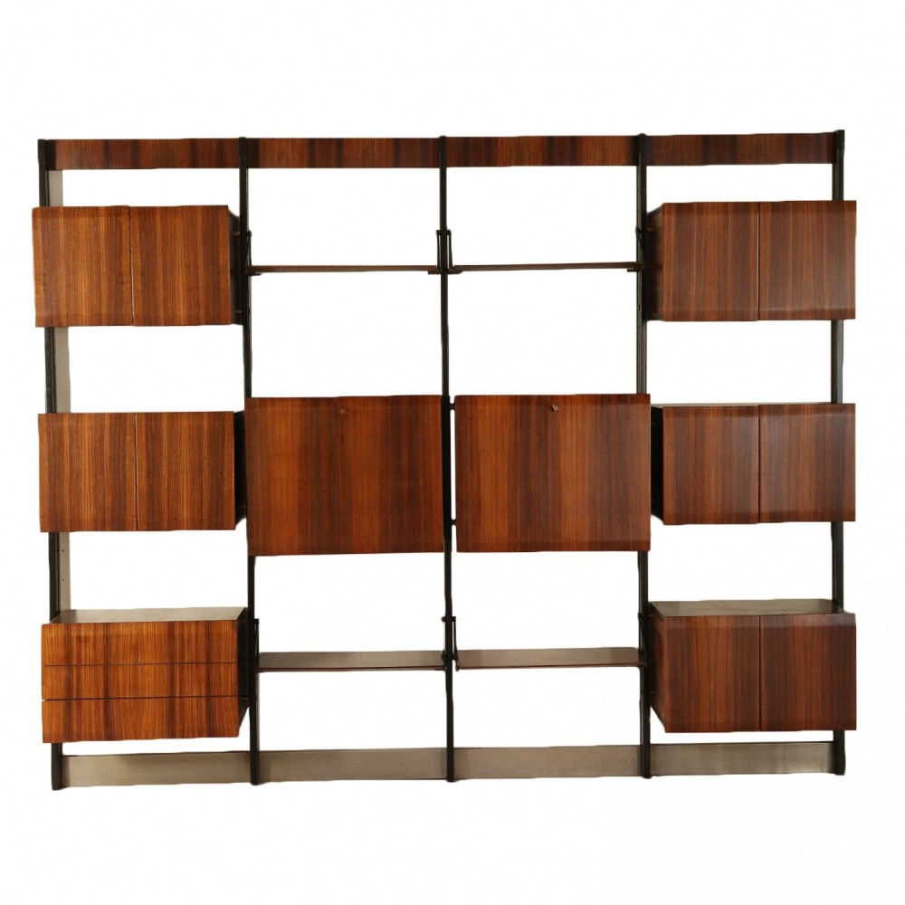 Bookcase in Rosewood veneer for Frigerio di Desio, Italy 1960s