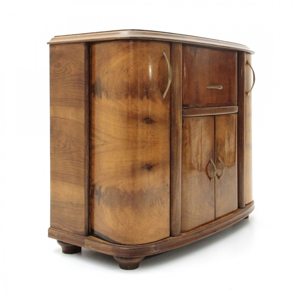 Italian art deco bar cabinet, 1930s