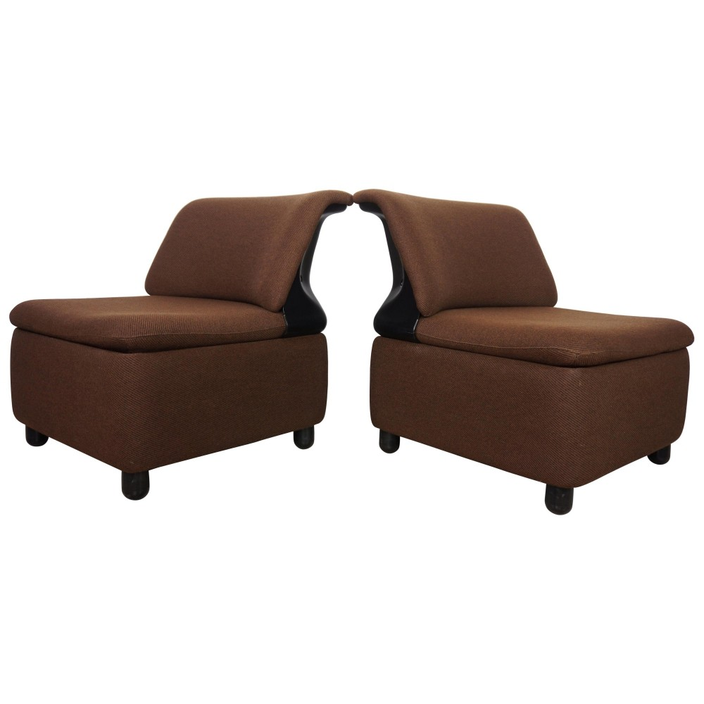 Pair Of Space Age Lounge Chairs by AddForm, 1970s