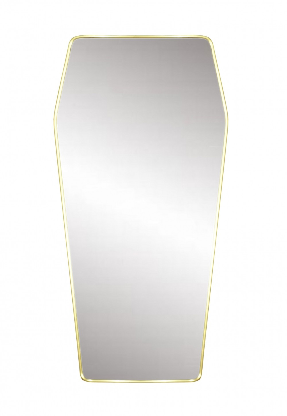 1950s Design Retroviseur Brass Mirror