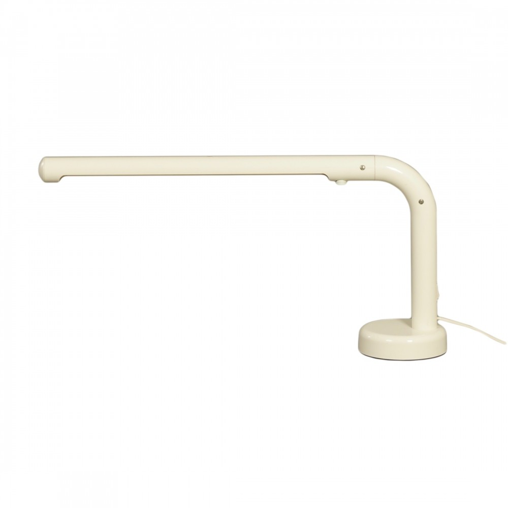 White Tube Desk Lamp by Anders Pehrson for Atelje Lyktan, 1970s