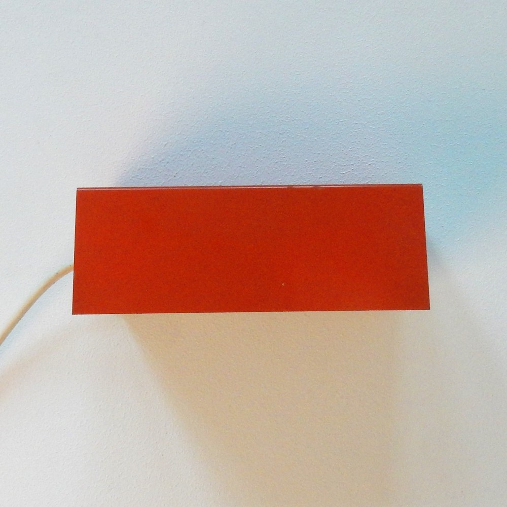 Orange 7102 wall light by Jan Hoogervorst for Anvia, The Netherlands 1950