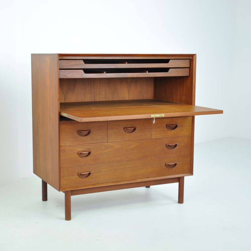 Secretary Chest by Peter Hvidt & Orla Molgaard-Nielsen for Söborg, 1950s