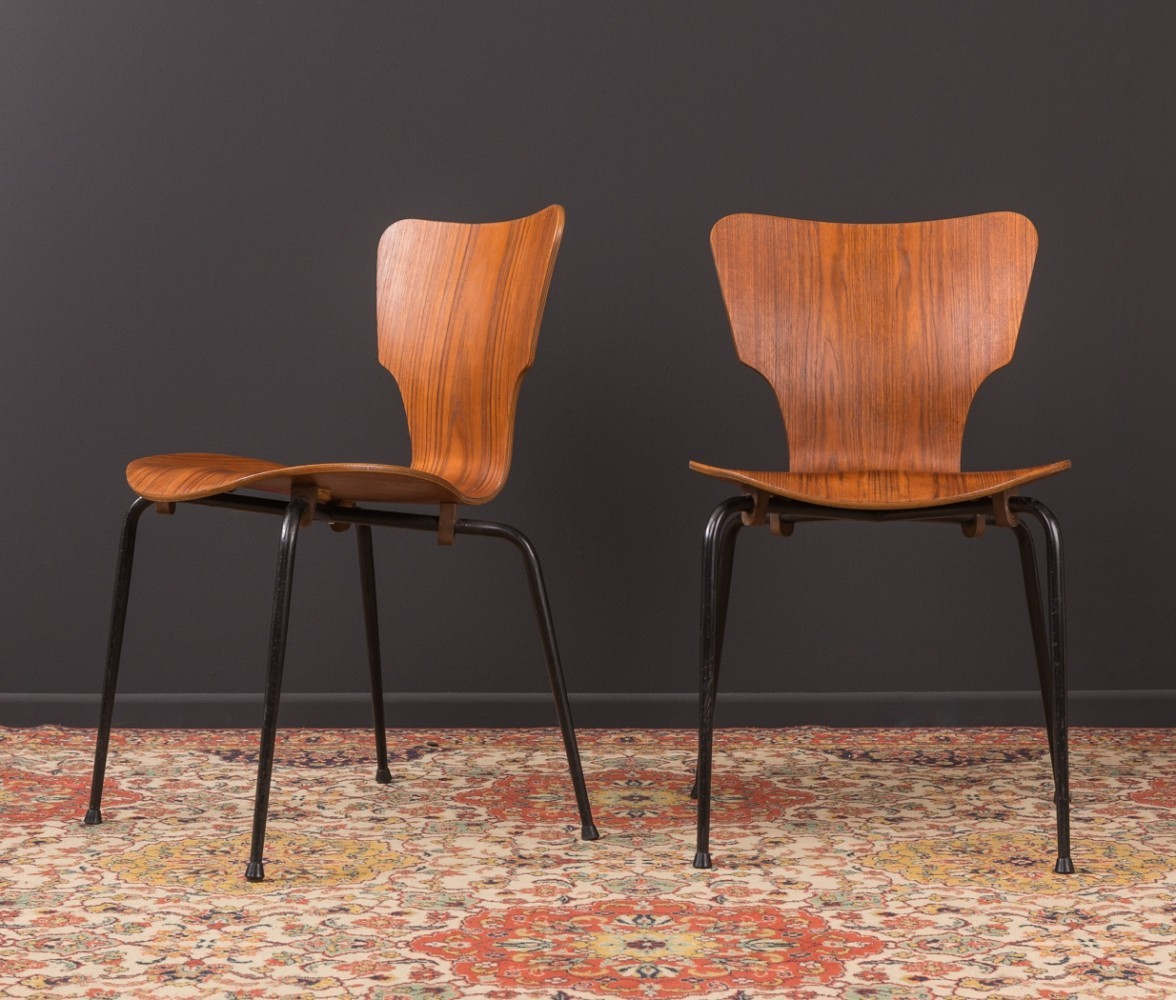 Danish plywood chair by Middelfart from the 1950s